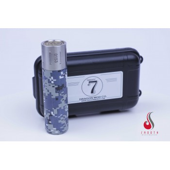Twenty7 Stainless Steel + Digi Camo Dragon Mod Co. mechanical tube mod