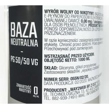 Baza neutralna 1000ml W2W 50/50