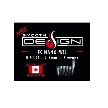COILS SMOOTH DESIGN FC NANO MTL  0,51OHM