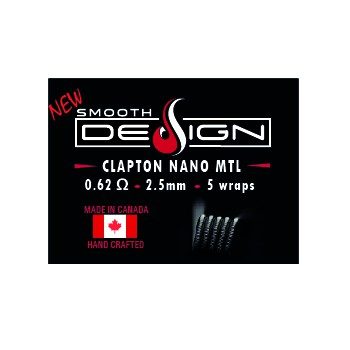 COILS SMOOTH DESIGN CLAPTON NANO 0,62OHM