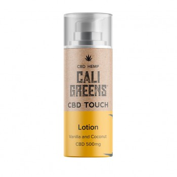 Cali Greens 500mg Cbd Touch Lotion Vanilla And Coconut 100ml