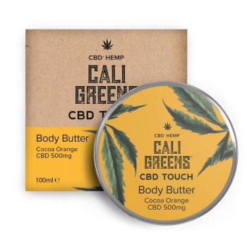 Cali Greens 500mg Cbd Touch Body Butter Cocoa Orange