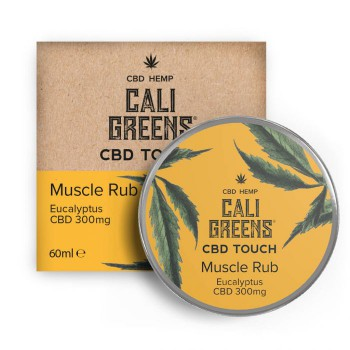 Cali Greens 300mg Cbd Touch Muscle Rub Eucalyptus 60ml